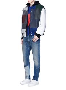 KENZOLogo print zip hoodie