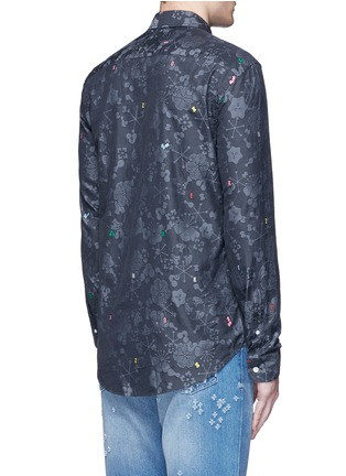 Back View - Click To Enlarge - KENZO - Slim fit alphabet jacquard cotton shirt