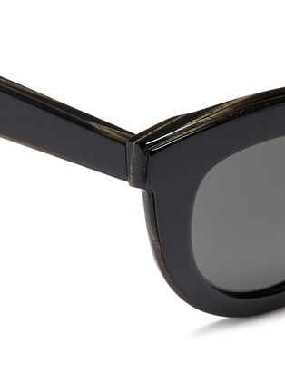 Detail View - Click To Enlarge - Victoria Beckham - 'Layered Cat' inset acetate colourblock sunglasses