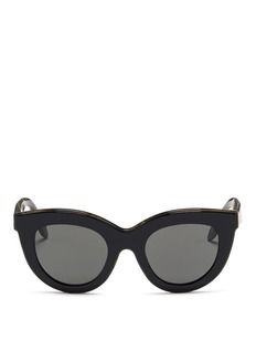 Victoria Beckham 'Layered Cat' inset acetate colourblock sunglasses
