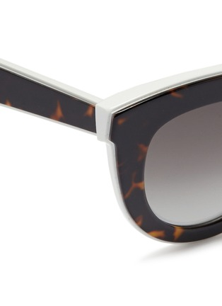Detail View - Click To Enlarge - Victoria Beckham - 'Layered Cat' inset tortoiseshell acetate sunglasses