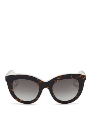 Main View - Click To Enlarge - Victoria Beckham - 'Layered Cat' inset tortoiseshell acetate sunglasses