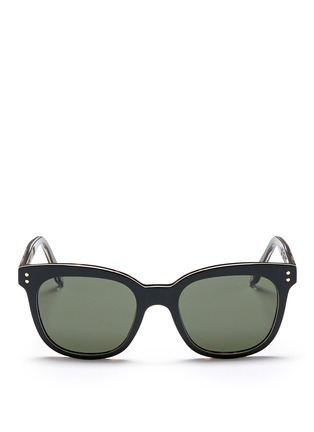 Main View - Click To Enlarge - Victoria Beckham - 'The VB' colourblock tortoiseshell effect acetate square sunglasses