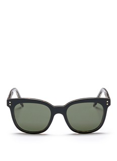 Victoria Beckham 'The VB' colourblock tortoiseshell effect acetate square sunglasses