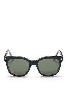 Victoria Beckham'The VB' colourblock tortoiseshell effect acetate square sunglasses