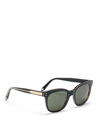 Figure View - Click To Enlarge - Victoria Beckham - 'The VB' colourblock tortoiseshell effect acetate square sunglasses