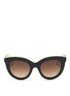 Victoria Beckham'Layered Cat' inset acetate colourblock sunglasses