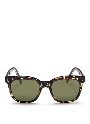 Main View - Click To Enlarge - Victoria Beckham - 'The VB' tortoiseshell effect acetate square sunglasses
