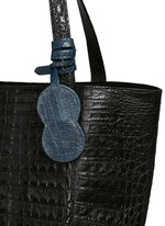 'Perez Mini' Caiman crocodile leather tote