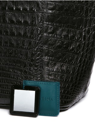 - CELESTINA BAGS - 'Perez Mini' Caiman crocodile leather tote