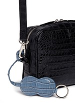 'Roxas' small Caiman crocodile leather shoulder bag
