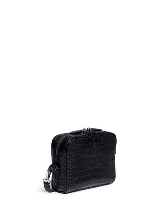 Celestina  - 'Roxas' small Caiman crocodile leather shoulder bag