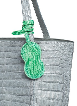 Detail View - Click To Enlarge - CELESTINA BAGS - 'Perez Mini' Caiman crocodile leather tote