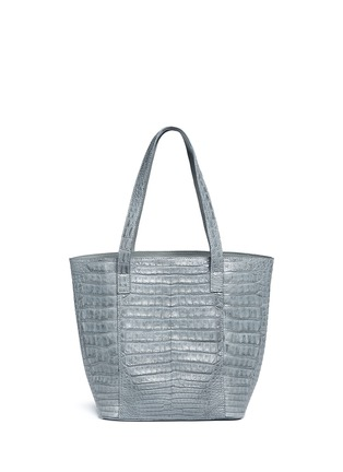 Main View - Click To Enlarge - CELESTINA BAGS - 'Perez Mini' Caiman crocodile leather tote