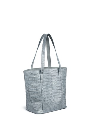 Figure View - Click To Enlarge - CELESTINA BAGS - 'Perez Mini' Caiman crocodile leather tote