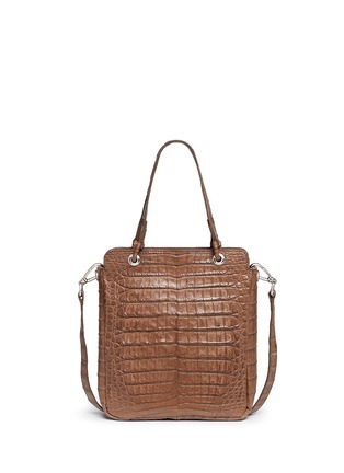Back View - Click To Enlarge - CELESTINA BAGS - 'Doris' Caiman crocodile leather bag