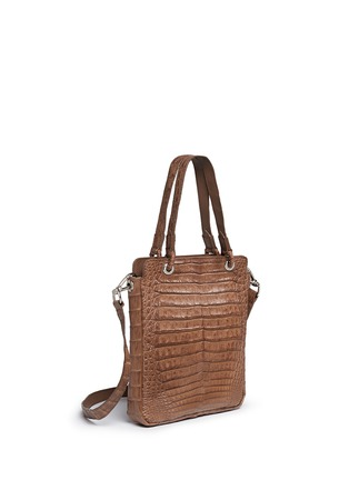 Figure View - Click To Enlarge - CELESTINA BAGS - 'Doris' Caiman crocodile leather bag