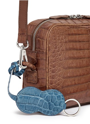 Detail View - Click To Enlarge - CELESTINA BAGS - 'Roxas' small Caiman crocodile leather shoulder bag