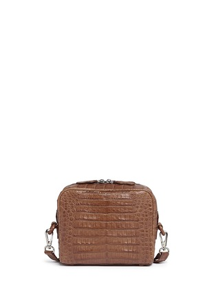 Main View - Click To Enlarge - CELESTINA BAGS - 'Roxas' small Caiman crocodile leather shoulder bag