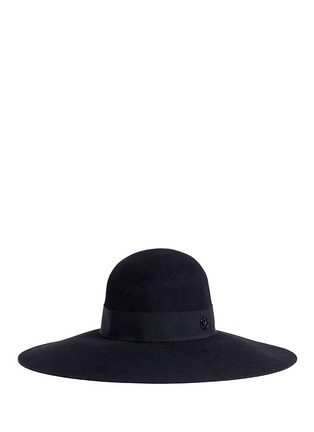 Maison Michel-'Blanche' rabbit furfelt capeline hat