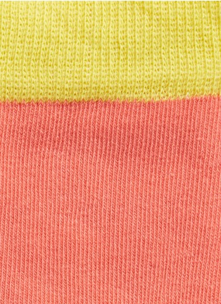 Detail View - Click To Enlarge - Happy Socks - Argyle and colourblock kids socks 2-pair pack