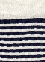 Nautical stripe and polka dot kids socks 2-pair pack