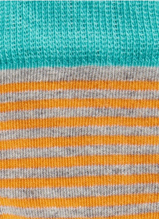 Detail View - Click To Enlarge - Happy Socks - Colourblock stripe and polka dot kids socks 2-pair pack