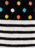 Stripe and polka dot kids tights