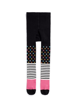 Main View - Click To Enlarge - Happy Socks - Stripe and polka dot kids tights