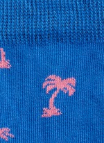 Wave and palm tree kids socks 2-pair pack