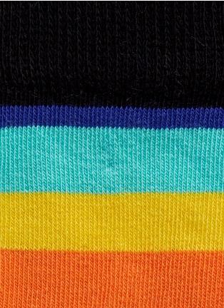 Detail View - Click To Enlarge - Happy Socks - Stripe and polka dot kids socks 2-pair pack