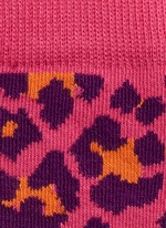 Leopard and mix pattern kids socks 2-pair pack