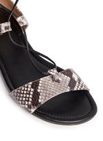 'Sofia' python embossed leather gladiator sandals