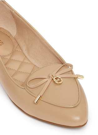 Detail View - Click To Enlarge - Michael Kors - 'Nancy' logo ribbon leather flats