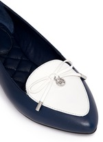 'Nancy' contrast vamp leather flats