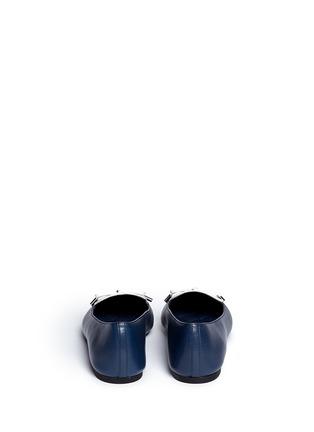 Michael Kors-'Nancy' contrast vamp leather flats