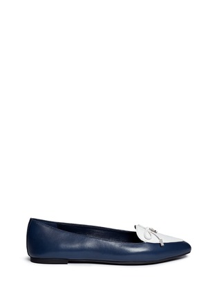 Main View - Click To Enlarge - Michael Kors - 'Nancy' contrast vamp leather flats