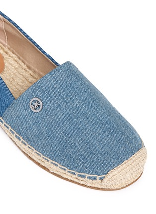 Detail View - Click To Enlarge - Michael Kors - 'Kendrick' denim espadrille slip-ons