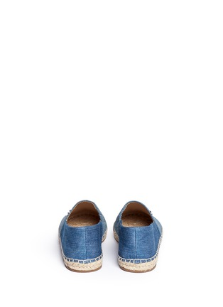 Back View - Click To Enlarge - Michael Kors - 'Kendrick' denim espadrille slip-ons
