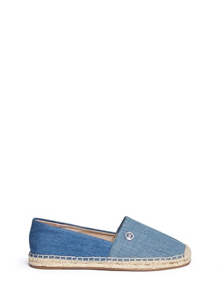 Main View - Click To Enlarge - Michael Kors - 'Kendrick' denim espadrille slip-ons