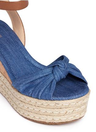 Detail View - Click To Enlarge - Michael Kors - 'Maxwell' denim cork wedge espadrille platform sandals