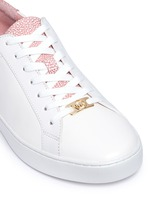 'Irving' shagreen effect trim leather sneakers