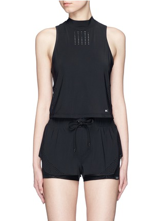 Main View - Click To Enlarge - KORAL - 'Punch' perforated performance crop top