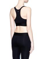 'Orbit' chrome print sports bra top