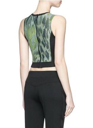 Back View - Click To Enlarge - Koral - 'Pare' snake print cropped tank top