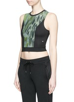 'Pare' snake print cropped tank top