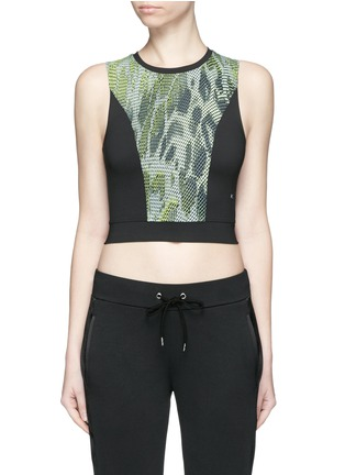 Main View - Click To Enlarge - Koral - 'Pare' snake print cropped tank top