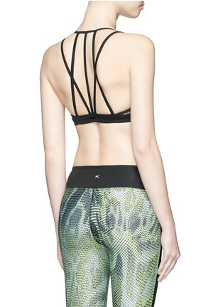 Back View - Click To Enlarge - Koral - 'Verge Versatility' crisscross back sports bra