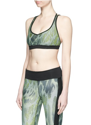 Front View - Click To Enlarge - Koral - 'Verge Versatility' crisscross back sports bra