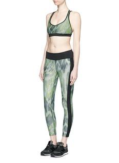 KORAL'Dynamic Duo' snake print cropped leggings